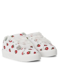 Strawberry canvas sneakers