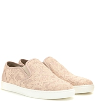 Baskets slip-on en dentelle