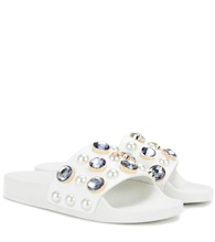 Vail embellished leather slide sandals
