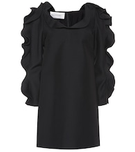 Valentino ruffled wool and silk minidress