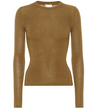Ribbed-knit cashmere-blend top