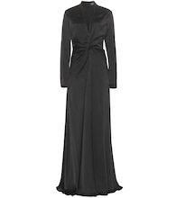 Floor-length satin dress