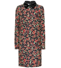 Silk and wool floral dress