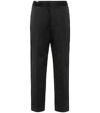 Cotton-twill straight pants