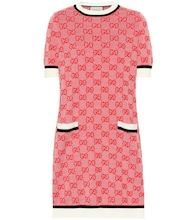 GG wool and cotton knit dress