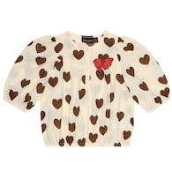 Hearts printed cotton top