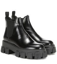 Monolith leather ankle boots