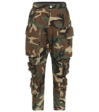 Camouflage cotton twill pants