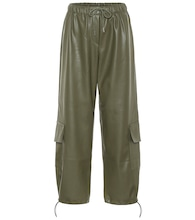 Yoyo faux leather cargo pants