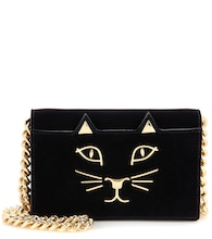 Feline Purse velvet shoulder bag