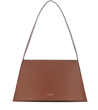 Curve leather shoulder bag