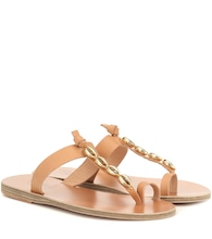 Iris Shells leather sandals