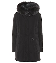 City fur-trimmed down coat