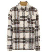 Gaston checked wool-blend jacket