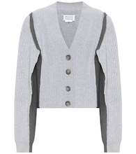 Cotton and wool-blend cardigan