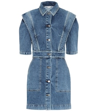 Stretch-denim dress