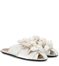 Capri Bow satin sandals