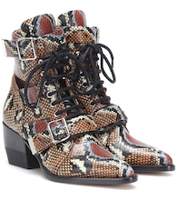 Rylee printed leather ankle boots