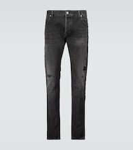 Straight-leg distressed jeans