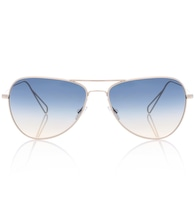 Matt aviator sunglasses for Oliver Peoples
