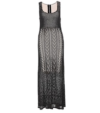 Lyra crochet-knit maxi dress