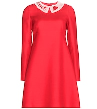 Wool and silk-blend crepe dress