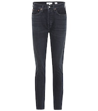High Rise Ankle Zip skinny jeans