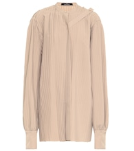 Pleated twill top