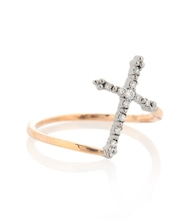 Grace 18kt rose gold ring with diamonds