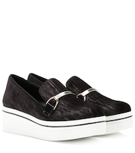 Binx velvet platform slip-on sneakers