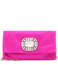Exclusive to Mytheresa – Titania embellished satin clutch