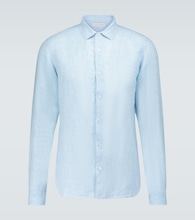 Giles long-sleeved linen shirt