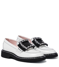 Viv' Rangers Strass Stitch leather loafers