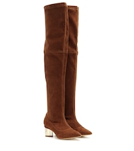 Platino Block over-the-knee suede boots