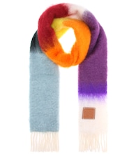 Mohair and wool scarf