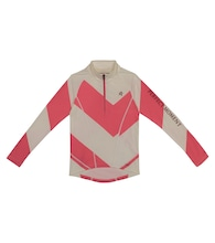Super Thermal chevron zip-up ski top