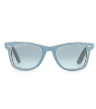 Wayfarer denim-coated sunglasses