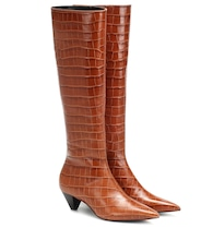Donique croc-effect leather boots