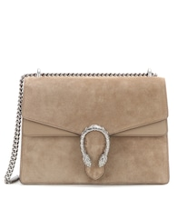 Dionysus Medium suede and leather shoulder bag