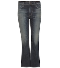 Fleetwood cropped high-rise flared jeans