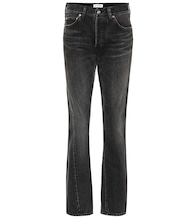High-rise cotton jeans