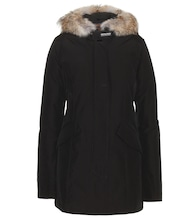 Arctic Parker coat with fur trim