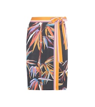 Printed silk-blend jersey skirt