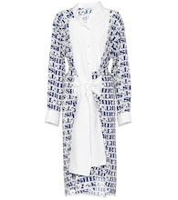 Asymmetric printed shirt dress