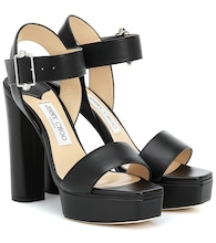 Maie 125 leather platform sandals