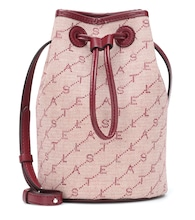 Monogram canvas bucket bag