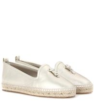 My Charms leather espadrilles