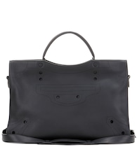 Blackout City leather tote