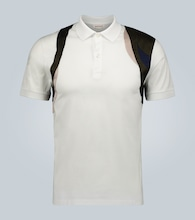 Contrast Harness polo shirt