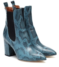 Exclusive to Mytheresa – Snake-effect leather ankle boots